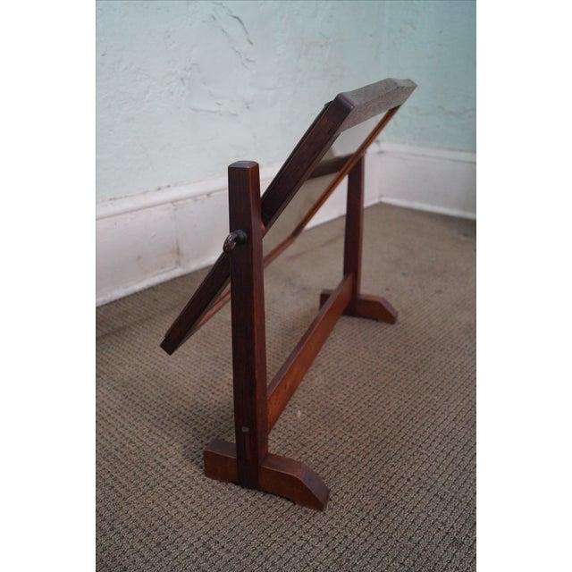 Wood Stickley Antique Mission Oak Shaving Mirror For Sale - Image 7 of 10