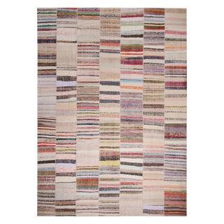 Rug & Kilim's Patchwork Beige and Multi-Color Wool Kilim Rug For Sale