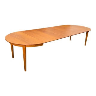 Large Danish Teak Dining Table by Henning Kjaernulf For Sale