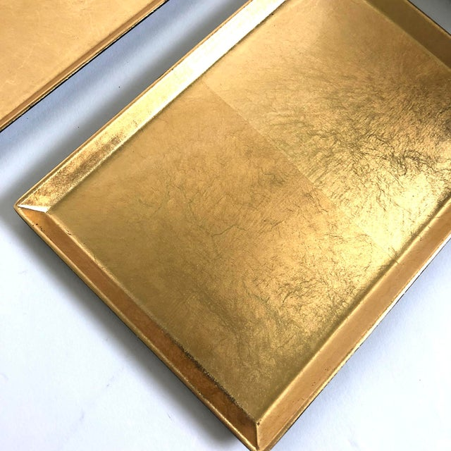Asian Japanese Gilded Gold   Lacquer Trays - Set of 7 For Sale - Image 3 d78ad5831
