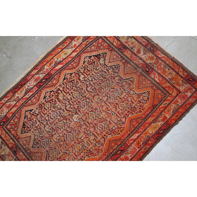 1880s, Handmade Antique Collectible Persian Mishan Malayer Rug 2.3' X 3.7' For Sale - Image 4 of 7