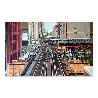 Trains in the Loop Print For Sale