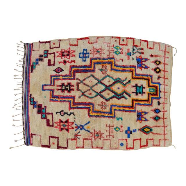 Vintage Moroccan Azilal Rug - 5'5'' x 3'11'' - Image 1 of 6