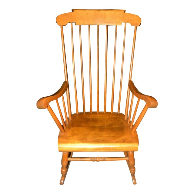 Bent Brothers Antique Maple Rocker For Sale