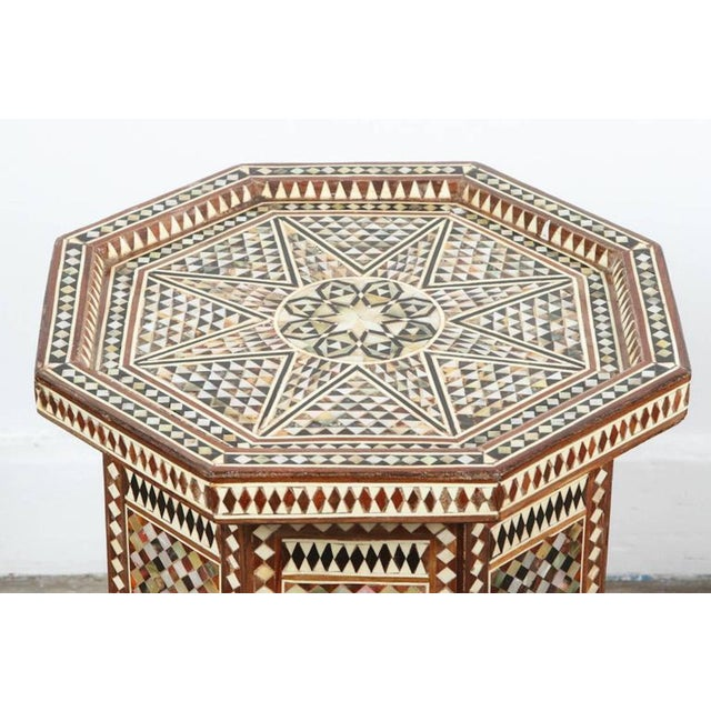 Syrian Octagonal Table Inlay with Mother-Of-Pearl For Sale In Los Angeles - Image 6 of 7