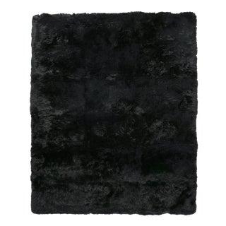Denis Shag Sheepskin Black Rug-5'x8 For Sale
