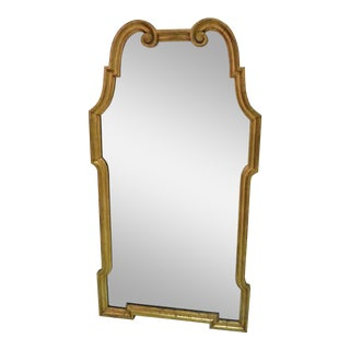 20th Century Neoclassical LaBarge Style Gold Wall Mirror For Sale