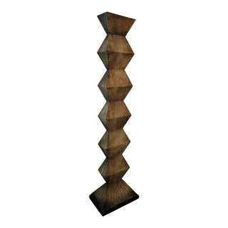 """1980s Angled Monolith Sculpture, 81"""" High For Sale"""