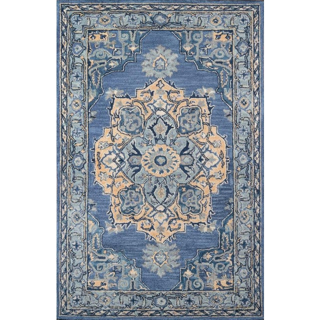 Blue Ibiza Denim Hand Tufted Area Rug 3' X 5' For Sale - Image 8 of 8