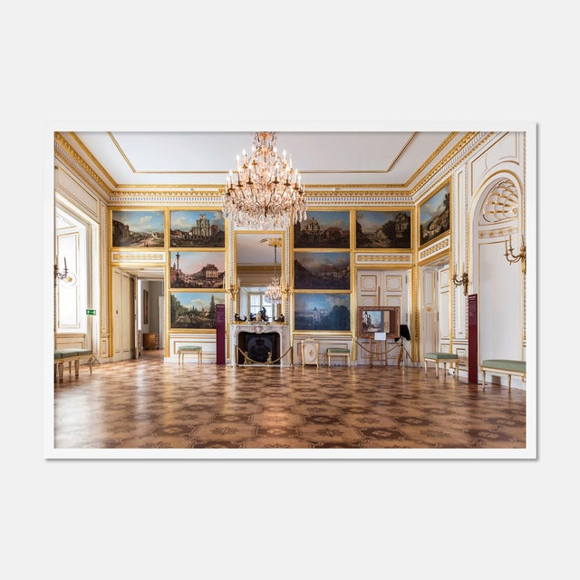 Contemporary Royal Palace Warsaw Room 7 by Richard Silver in White Framed Paper, Small Art Print For Sale - Image 3 of 3