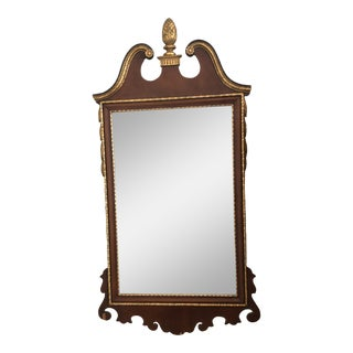 Antique American Federal Style Mahogany Wall Mirror For Sale
