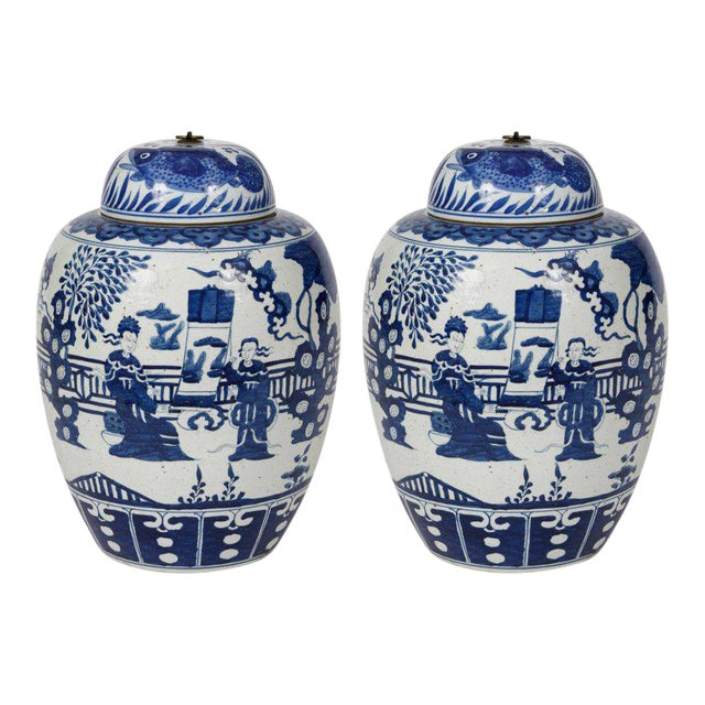 Chinese Ginger Jars - A Pair For Sale
