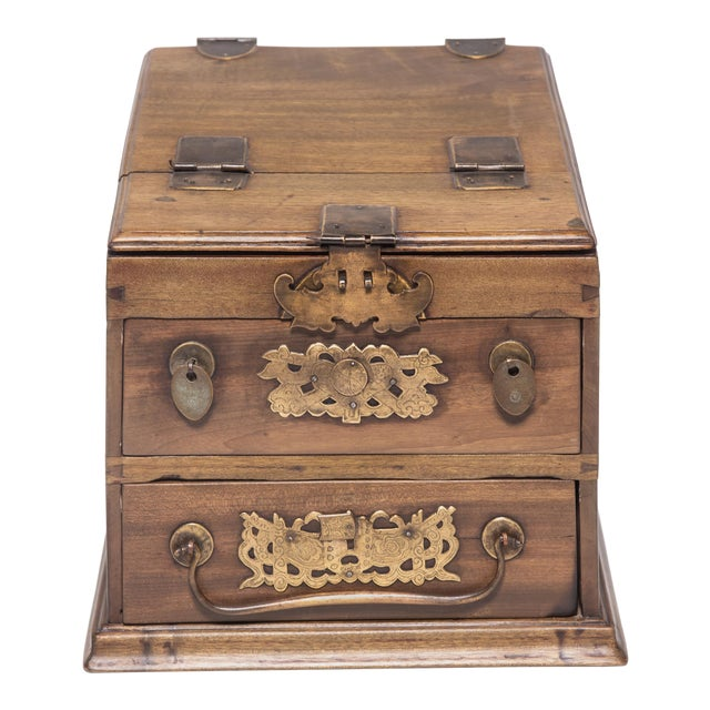 Chinese Double Bat Jewelry Chest For Sale