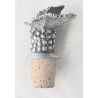 Figurative Pewter Cork Grape Motif Bottle Stopper Preview