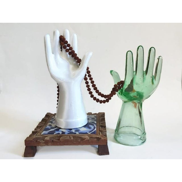 Vintage Glass Hand Statues Display Decor Jewelry Stands - A Pair - Image 10 of 11