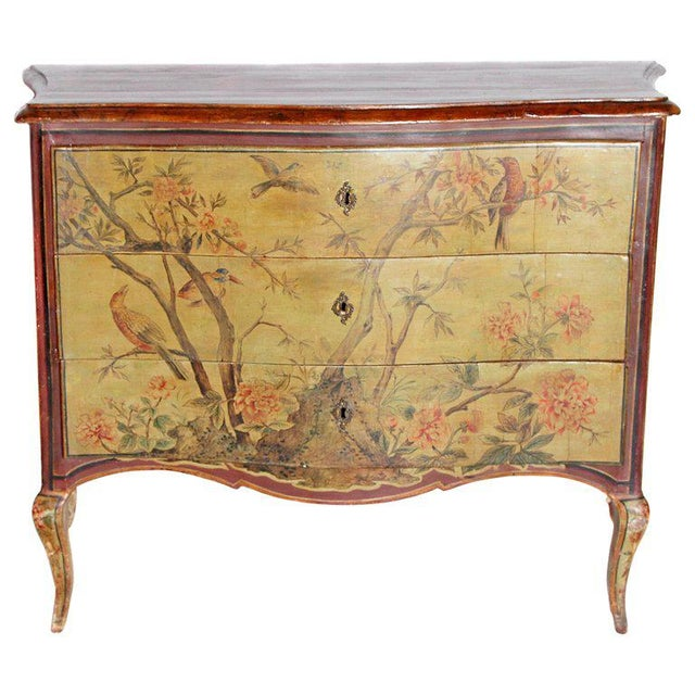 18th Century Italian Painted Commode For Sale - Image 13 of 13