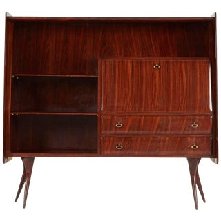 1950s Vittorio Dassi Italian Lacquered Rosewood Sideboard or Bar For Sale