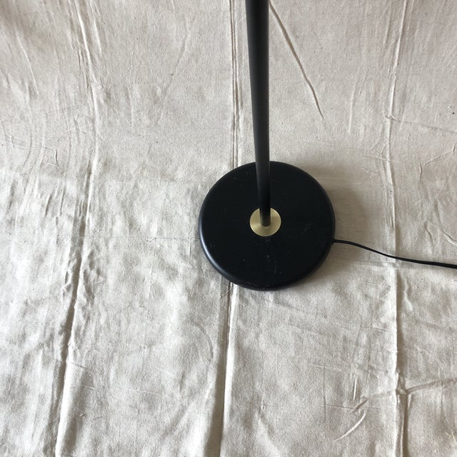 2010s Mid-Century Style Articulated Arm Brass and Black Floor Lamp For Sale - Image 5 of 9