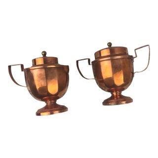 Antique Jos. Heinrichs Bronze Cream and Sugar Set For Sale