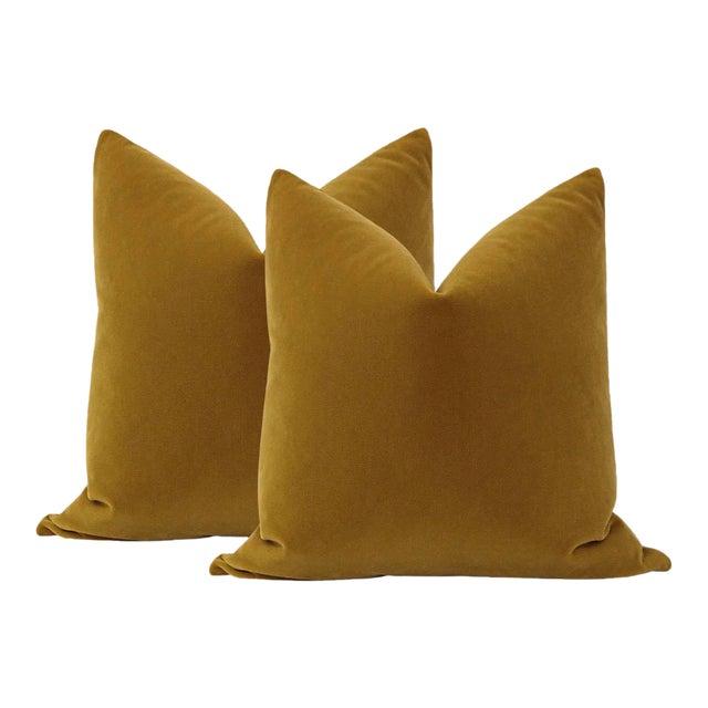 "22"" Bourbon Mohair Pillows - a Pair For Sale"