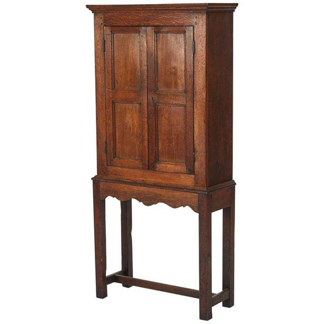 Oak Hall Cupboard on Stand For Sale In Los Angeles - Image 6 of 6