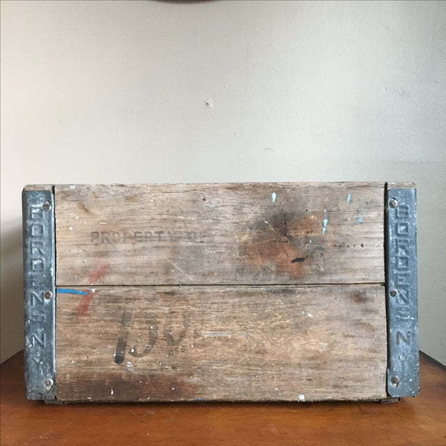 Antique Wooden Borden's NY Milk Crate For Sale - Image 3 of 7
