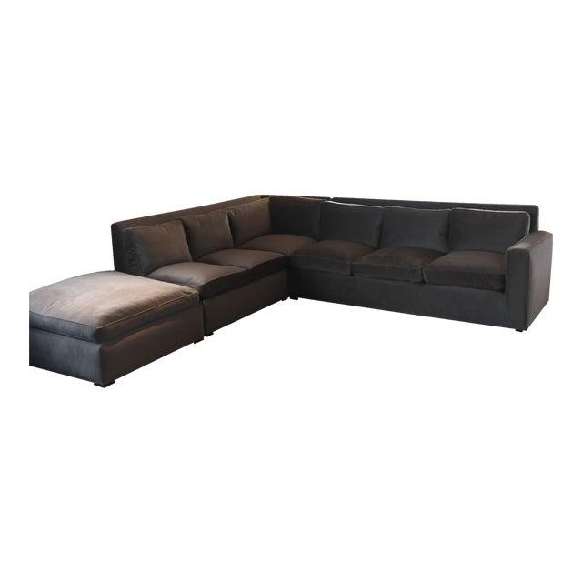 Custom Made Sectional Sofa & Ottoman - Image 1 of 7