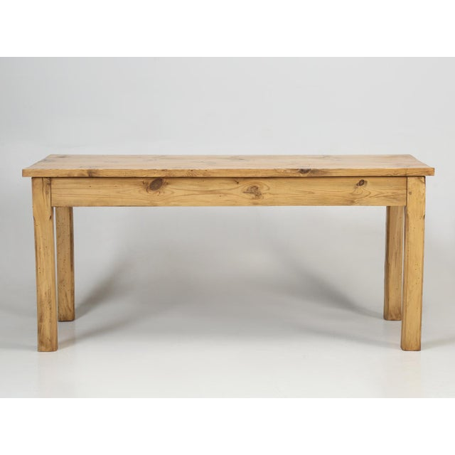 Old French pine farm table, which was recently restored in the traditional beeswax finish. For the past 25 years, I can...