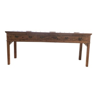 19th Century Country 3-Drawer Console Table For Sale