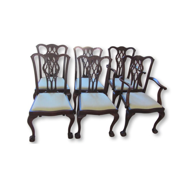 Antique Chippendale Dining Chairs - Set of 6 - Image 1 of 6