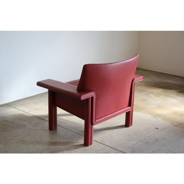 Afra & Tobia Scarpa Leather Lounge Chair For Sale - Image 9 of 13