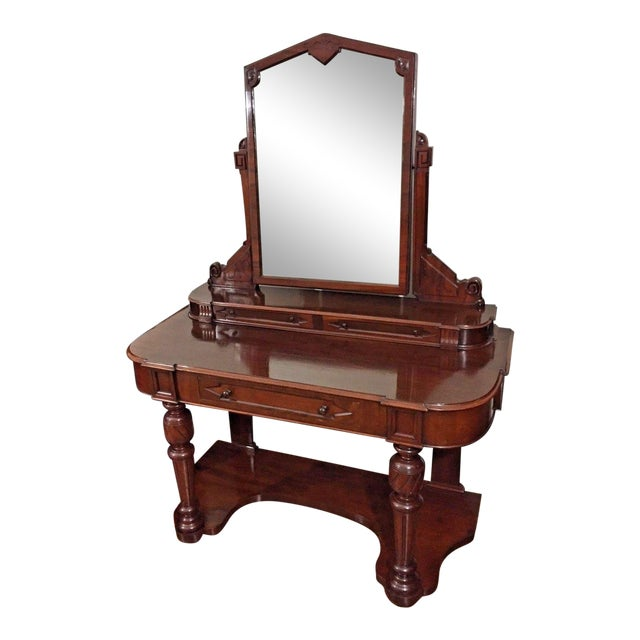 19th Century Victorian Mahogany Duchess Dressing Table For Sale
