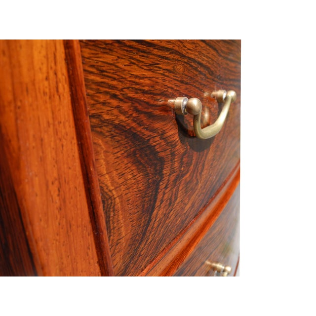 1960s Danish Modern Tall Rosewood Bombe Dresser / Gentleman's Chest by Ole Wanscher For Sale - Image 5 of 12
