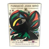 Image of Original 1970's Lithograph Poster Joan Miro From Barcelona For Sale