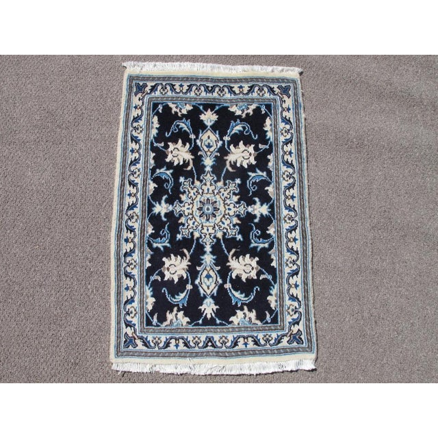 Persian Nain Wool & Silk Rug - 2' x 3' For Sale In Washington DC - Image 6 of 6