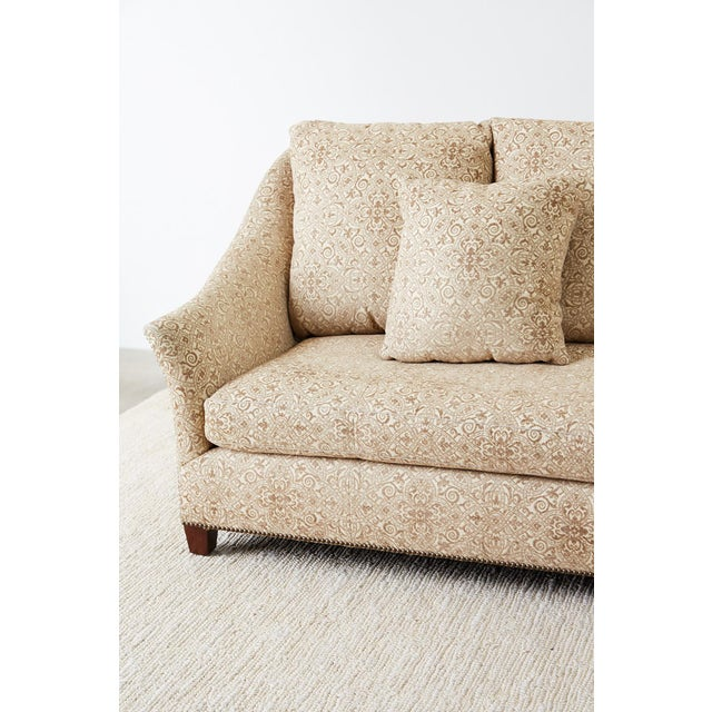 Gold Jonas New York Bruxelles Four Seat Upholstered Sofa For Sale - Image 8 of 13
