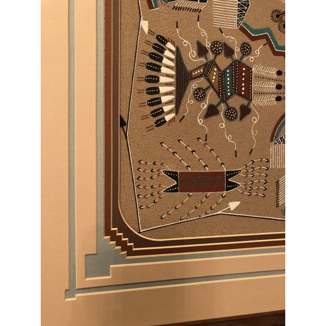 New Mexico Navajo Sand Painting by Rosabelle Ben For Sale - Image 4 of 11
