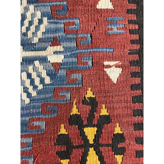 "Vintage Anatolian Kilim - 5'8"" X 3'7"" For Sale - Image 9 of 9"