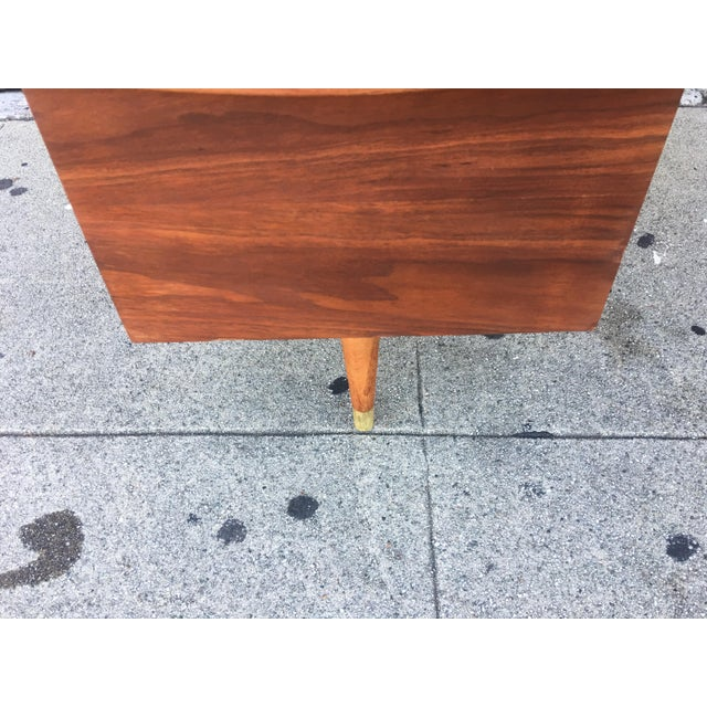 Vintage Mid-Century Wood Desk - Image 4 of 9