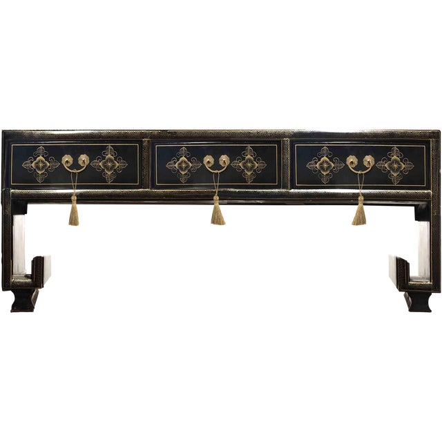 Vintage Chinoiserie Ming Lacquered Kang Coffee Table For Sale - Image 10 of 11