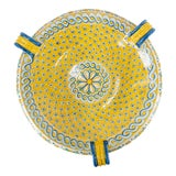 Image of Late 20th Century Italian Yellow Majolica Renaissance Revival Decorative Wall Charger For Sale