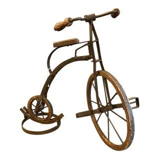 20th Century Antique Iron Model Vintage Bike For Sale