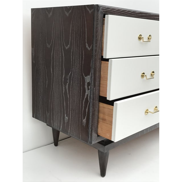 Mid-Century Modern Mid-Century Cerused Oak Dresser by American of Martinsville For Sale - Image 3 of 9