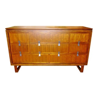Mid-Century Credenza With Brushed Nickel Pulls