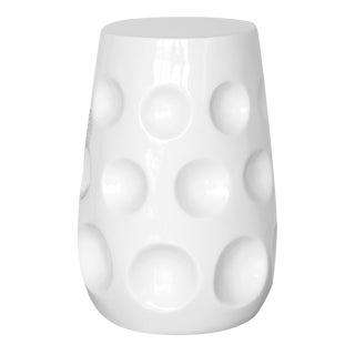 Selamat Designs White Gemma Lacquer Spot Table