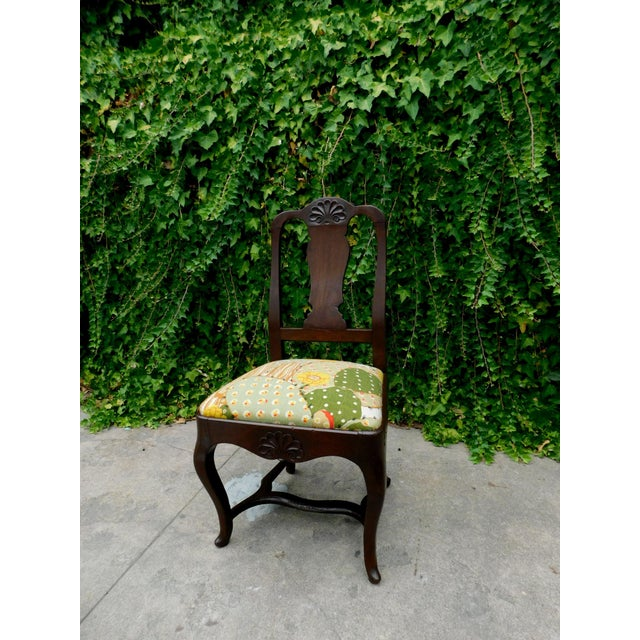 1910s Early 1900s Botanical Cactus Vanity Chair For Sale - Image 5 of 10