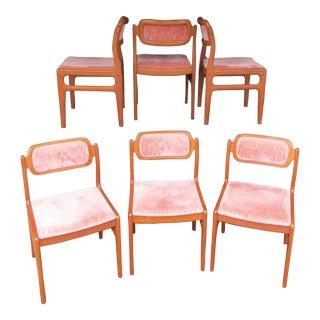 Johannes Andersen for Uldum Mobelfabrik Teak Dining Chairs - Set of 6 For Sale
