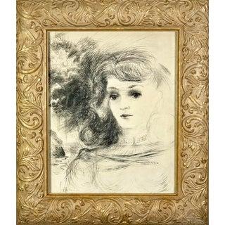 Surrealist Portrait Drawing by Adolf Konrad For Sale
