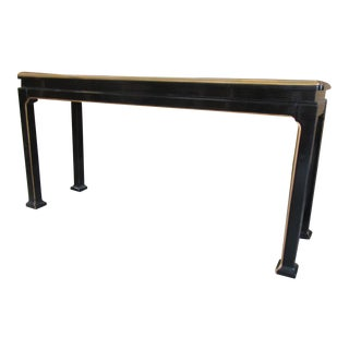 Asian Inspired Lacquered Console For Sale