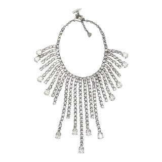 Thierry Mugler Runway Festoon Rhinestone Necklace For Sale